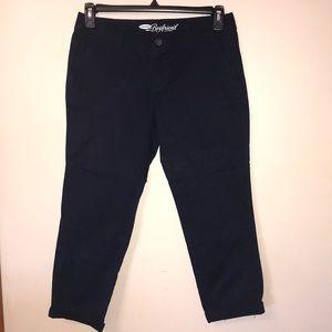 🦋 NWOT, Navy Blue boyfriend Cotton pants.